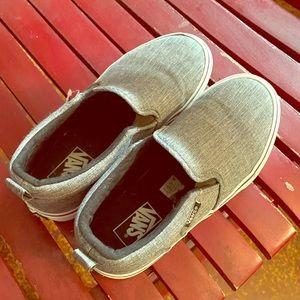 NEW!! Youth slip on VANS grey size 3
